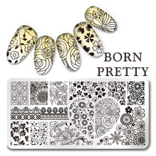 BORN PRETTY Nail Stamping Plates Flamingo Nail Template Mandala Maple Leaf Stamp Nail Art Stamp Image Template