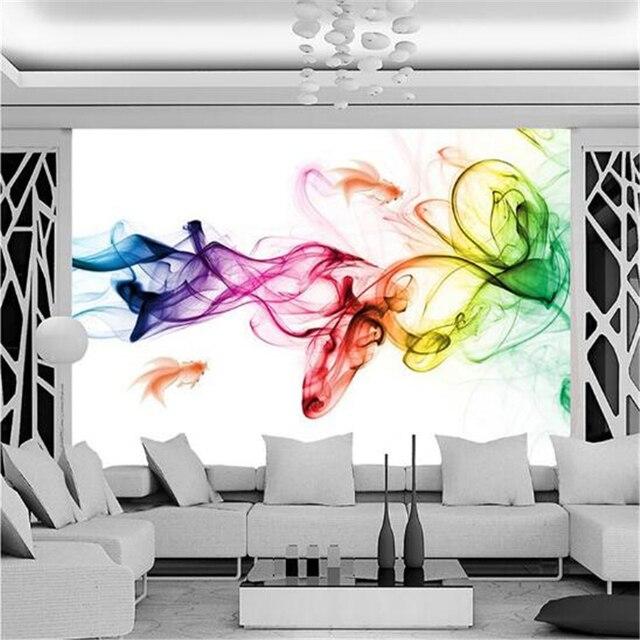 Beibehang Tapete Moderne Geometrische Linien Gezeichnet Farbige Rauch Kunst Wohnzimmer Mit Schlafsofa Schlafzimmer Hintergrund Mural