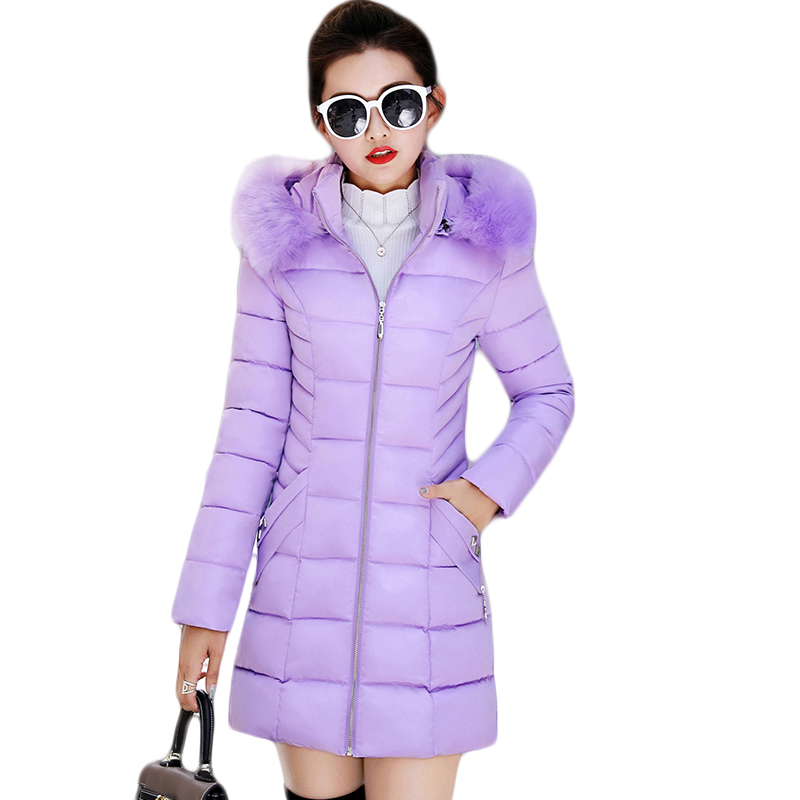Women Winter Jacket Coats 2019 New Down Cotton Hooded   Parkas   Feminina Warm Outwear Faux Fur Collar Plus Size 3XL Long Coats D364