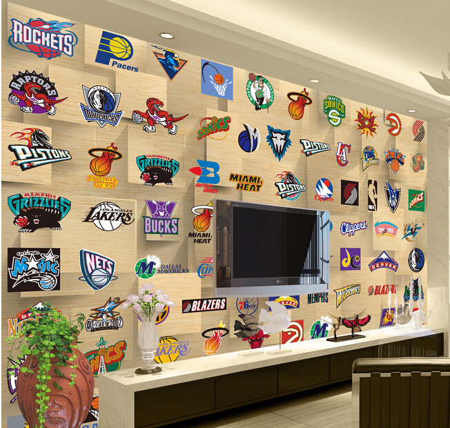 Custom de parede 3D Papel, the basketball team on the occasion of the wall of the living room bedroom TV wall wallpaper vinyl custom 3d mountains sunrises and sunsets forest trees rays of light nature papel de parede living room tv wall bedroom wallpaper