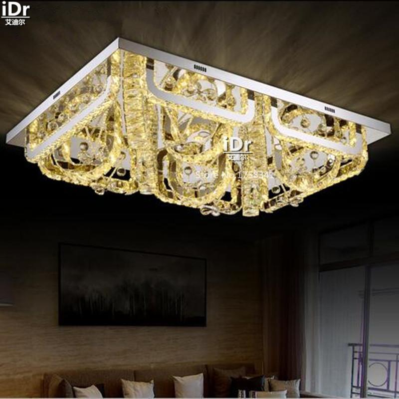 Modernen Minimalistischen Rechteckigen Wohnzimmer Lampe Fhrte Kristall Schlafzimmer Restaurant Atmosphre Deckenleuchten Mode EuropaChina
