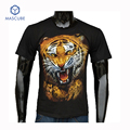 High Quality 100% Cotton Hiphop Teenager 3d Print Tiger Men's T Shirts Casual Street Clothes Tops Tees Mens T Shirts Fashion