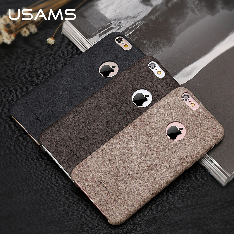 USAMS Luxury Leather Case For iPhone 6s Case 4 7 inch Phone Case for iPhone 6s
