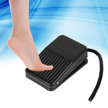 220V 10A Electrical Foot Pedal Switch Power Plastic Foot Switch On/Off Control Black Color+10cm Cord foot pressure switch plastic new black wired high frequency 50 60hz foot switch pedal aluminum alloy mklt 3