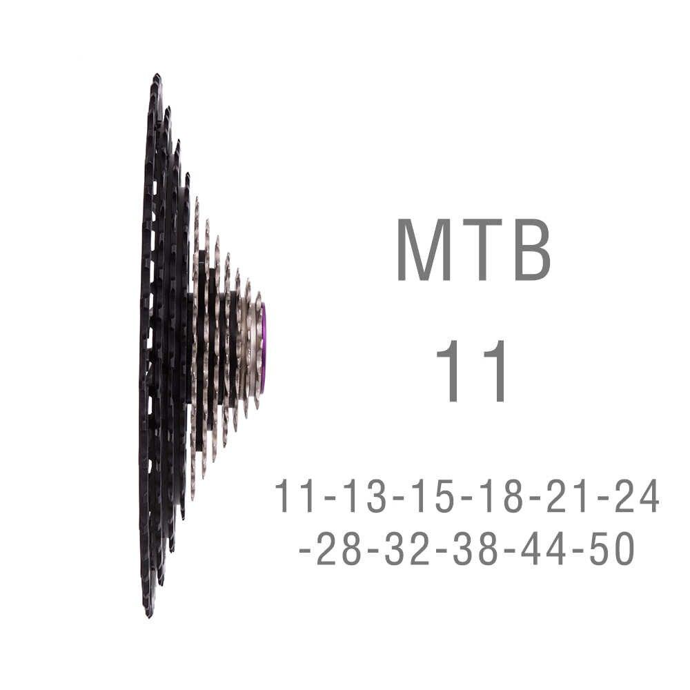 جدائل جبلية ZTTO موديل 11s 11-50T SLR2 مزودة بمقياس جديد سرعة 11 عالية الخفة k7 11S 360g قطع غيار دراجات جبلية بعجلة حرة تعمل بالتحكم العددي بواسطة الحاسوب