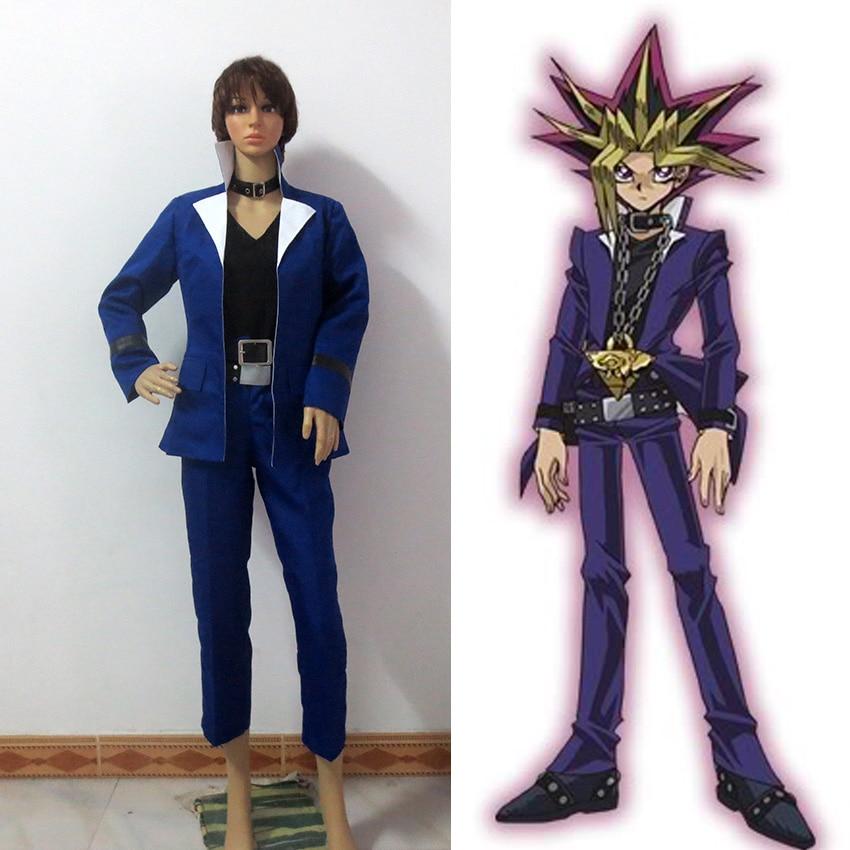 Yu-Gi-Oh Yugi Muto cosplay costume for Men Custom Made