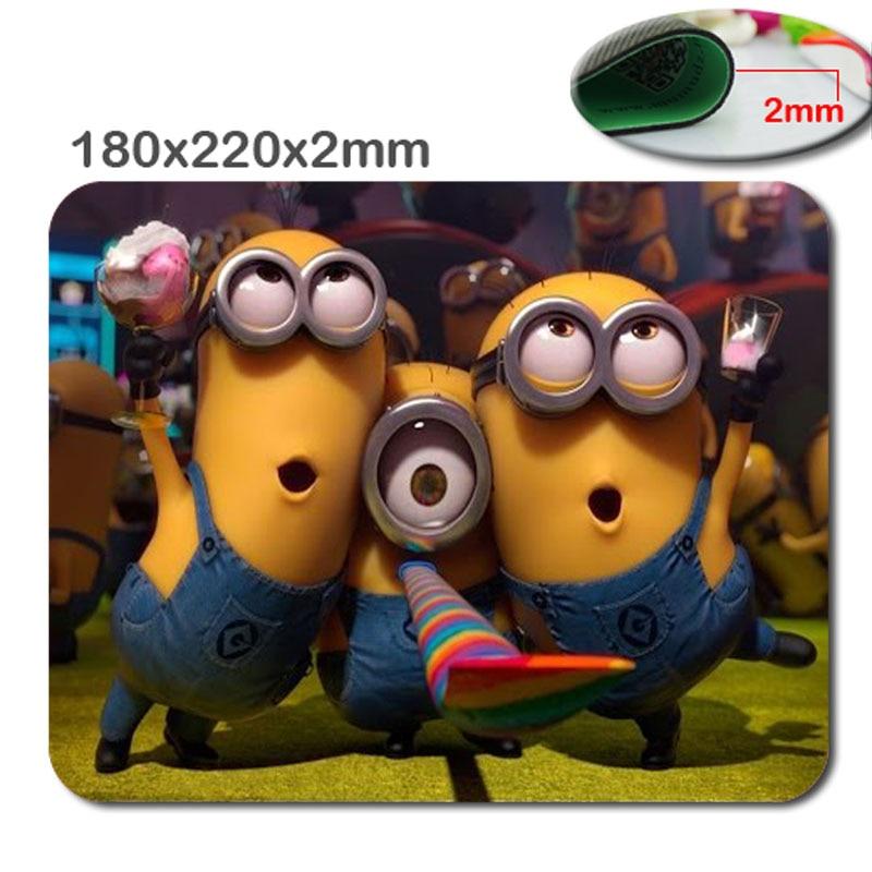 Profesyonel kaymaz dayanıklı özel baskı filmler despicable me minions optik bilgisayar gaming mouse pad 220*180 * 2 (MM)