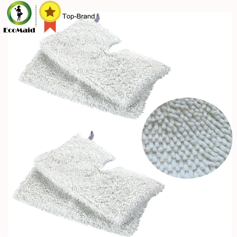 4Pcs Rectangle Microfiber Replacement Cleaning Pads for Shark Steam Pocket Mops S3501, S3601 S3801CO and S3901 Washable Reusable 5 replacement microfiber pads cleaning pads for h2o x5 steam mop