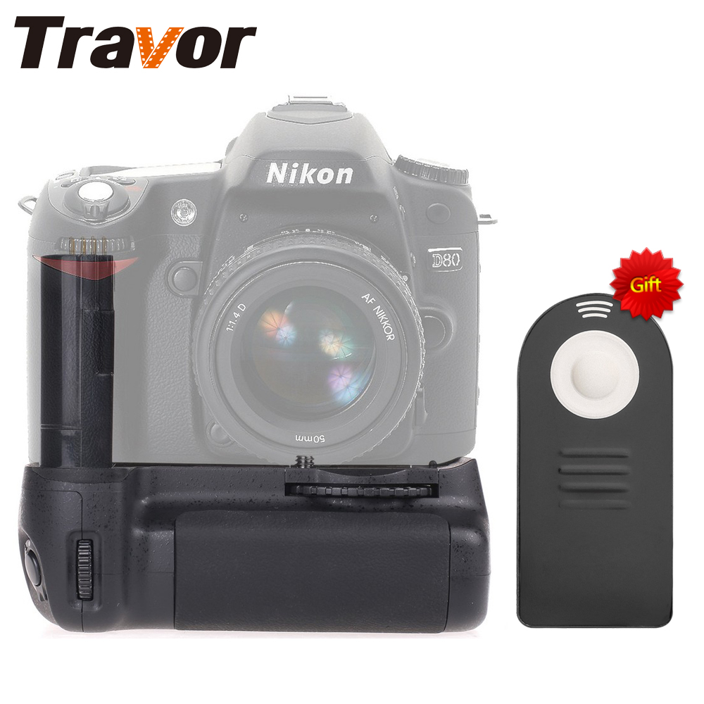 Travor Vertical Battery Grip Pack for D90 DSLR Camera as MB- Camera+universal remote control as a gift for free