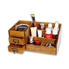 Zakka Desktop Wood wood finishing sundries DRAWER DRESSER cosmetic box Doug storage
