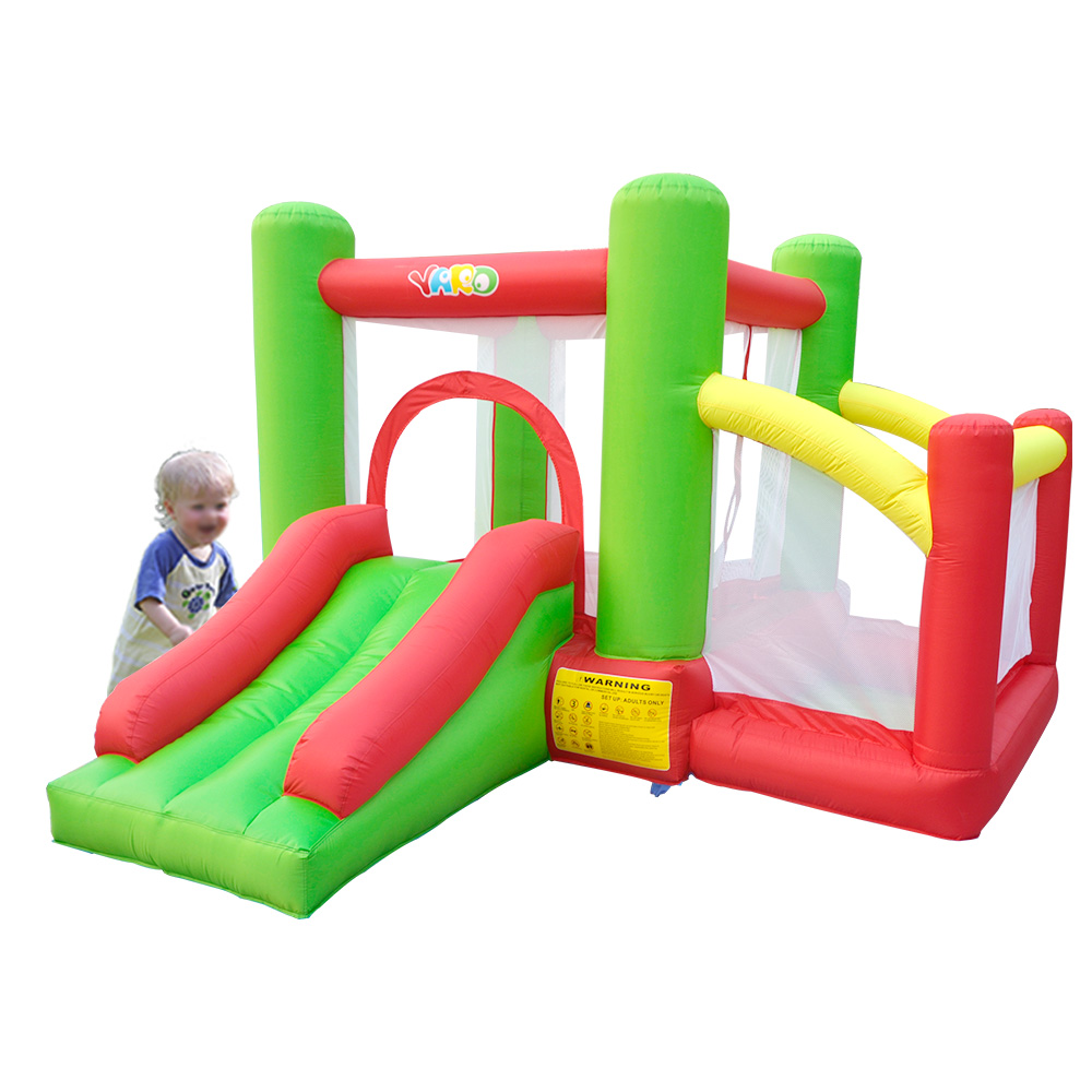 YARD Inflatable Trampoline Bouncer Suitale For 3 Kids With Slides Present PE Balls Home Use Jumping Inflatable Bouncer Castle china guangzhou manufacturers selling inflatable slides inflatable castles inflatable bouncer chb 29