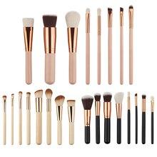 Hot item! 8 Pcs Wooden Handle Makeup Brushes Set Foundation Blush Eyeshadow Cosmetic Brush