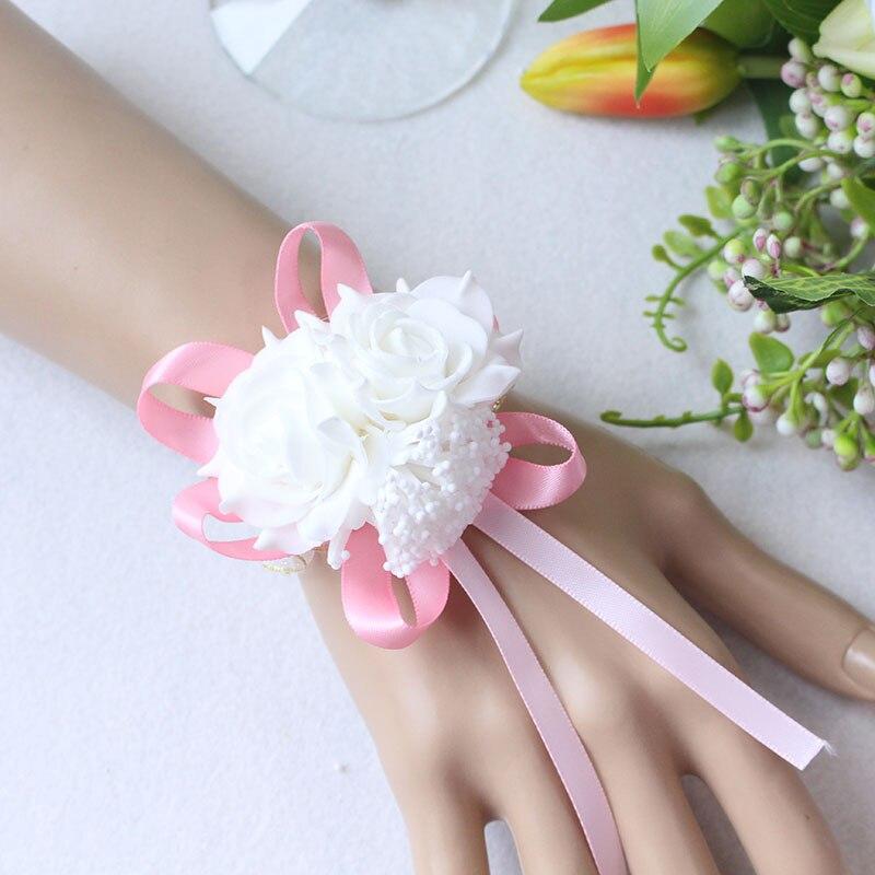 Wrist Flower Bridesmaid Hand Flowers wedding corsage  (4)