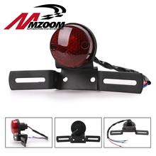 Мотоцикл задний фонарь велосипед задний фонарь Тормозной Стоп номерной знак свет для Chopper/Bobber тормозной сигнальный фонарь