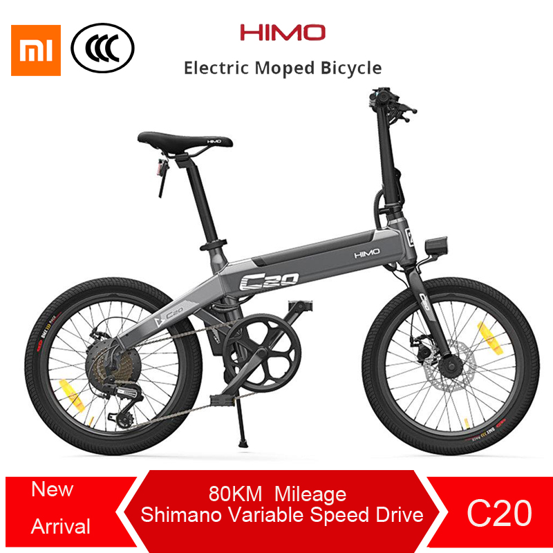 Free duty For Xiaomi HIMO C20 Foldable Electric Moped Bicycle 250W Motor 25km/hcapacity 100kg for adults and teenagers lightweig secadora nova 6130
