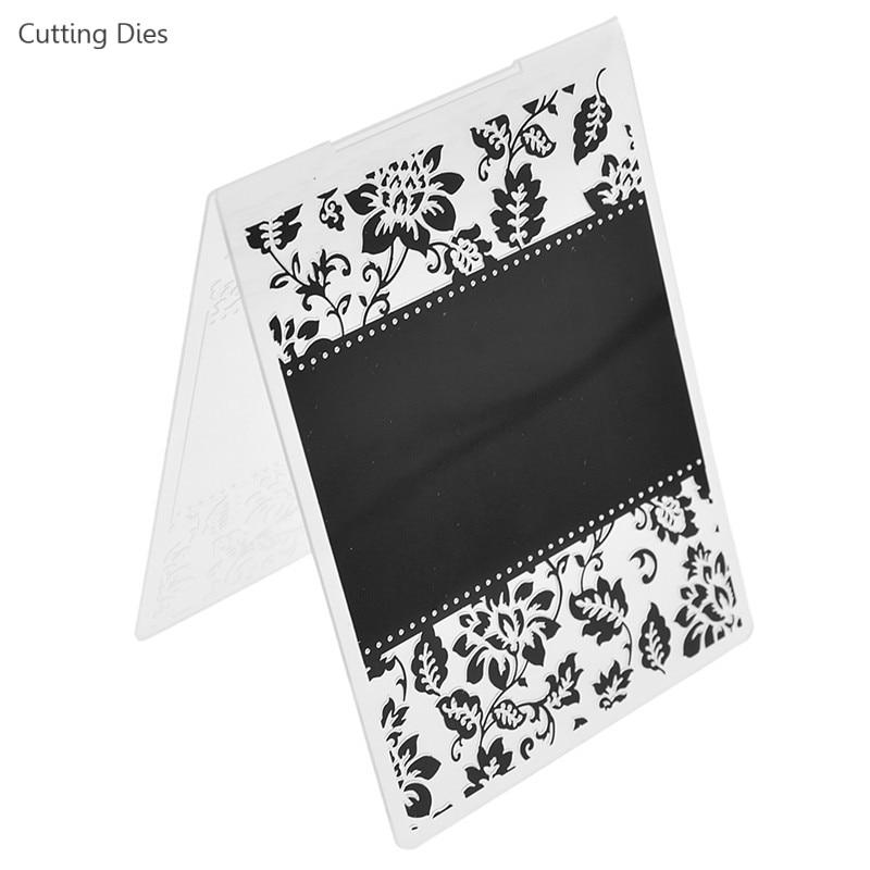 Plastic DIY Embossing Folder Template Die Cutting Scrapbooking Album Card Crafts
