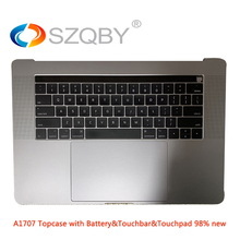 """Original A1706 A1707 US UK Topcase with Battery Touchpad Touchbar for 13"""" 15″ MacBook Pro Retina 2016 2017 Year"""