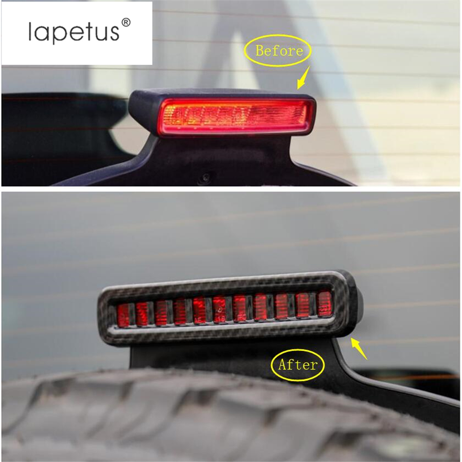 Lapetus Accessories For Jeep Wrangler JL 2018 2019 ABS Rear Tail High Position Brake Parking Lights Lamp Molding Cover Kit Trim in Chromium Styling from Automobiles Motorcycles