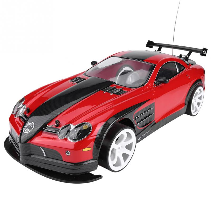 1/10 RC Racing Car Electric Car Model LED Light Double Battery Warehouse 1:10 Model High Speed Car Vehicle Toy For Kids Boy Gift high speed laser light swivel mini toy car