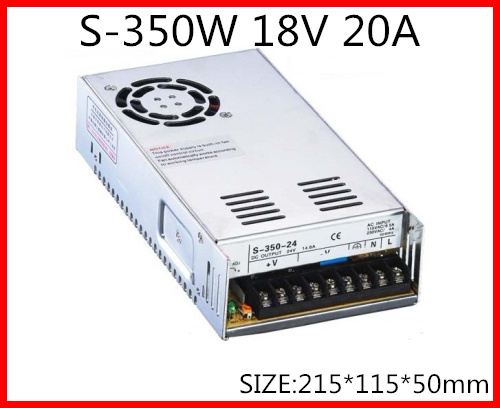 S-350-18 350W 18V 20A  Single Output Switching power supply for LED Strip light  AC-DC