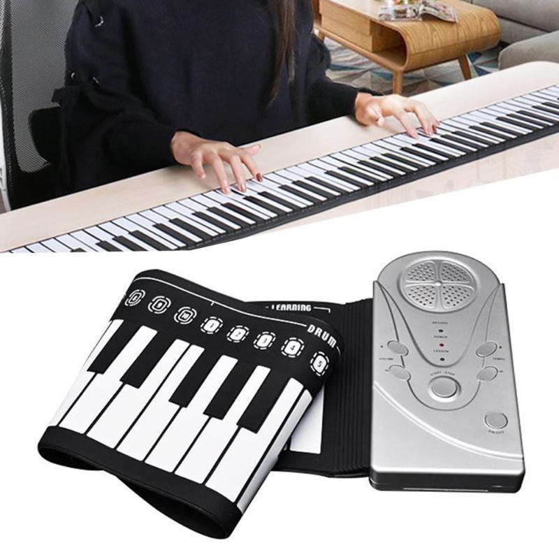 VKTECH 49 touches pliant Piano Montessori retrousser Portable pliant Pianos électroniques clavier Flexible jouets musicaux pour enfants