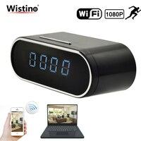 Wistino 1080P WIFI Camera Nanny Camera Black P2P IP Security Clock IOS Android Motion Detection Home