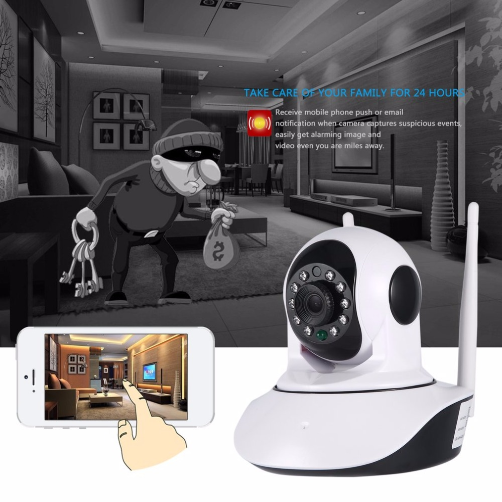 Two Million 1080P HD Wireless Network Panoramic Wifi Camera Home Motion Detectio IP Camera With Smartphone Alerts and App Set-up