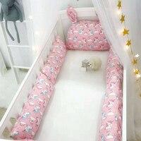 Детская кровать бампер Ins Cot бампер детская защита для кроватки детская подушка Кролик ушной формы печать кроватка бампер для новорожденног