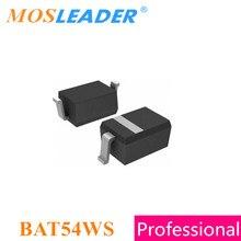 Mosleader bat54ws sod323 3000 pces 30 v bat54w bat54 schottky feito em china de alta qualidade