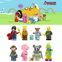Legoing Duplo Movie Cartoon anime Adventure Time with Finn and Jake figures Model Building Blocks Toys for Children Legoing toys(China)