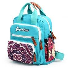 Холст леди сумка Новинка 2017 года мумия мешок Национальный модные женские туфли рюкзак со вставками сумка износостойкий рюкзак