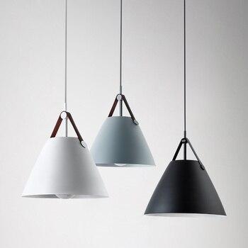 Nordic Semplice Disegno D27/36 centimetri Bianco opaco/Nero/Grigio luce del pendente ristorante lampada della cucina sala da pranzo sospeso luce illuminante
