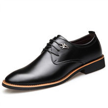 2019 new Spring Fashion Oxford Business Leather Casual Men Shoes Flats Round Toe Comfortable Office Dress