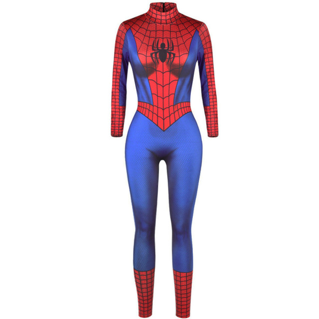 4a7e0c17cf214 New 3D Print Super Hero Spider man Clown king Skull Cartoon Halloween Party  Cosplay Onesies Adult Slim thin Pajamas jumpsuit