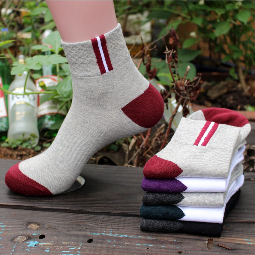 Ocean Bluevin New Design Spring Autumn Winter Men Cotton Socks Fashion 5 Colors Middle Thick Absorbent Sweat Deodorant Warm Sock