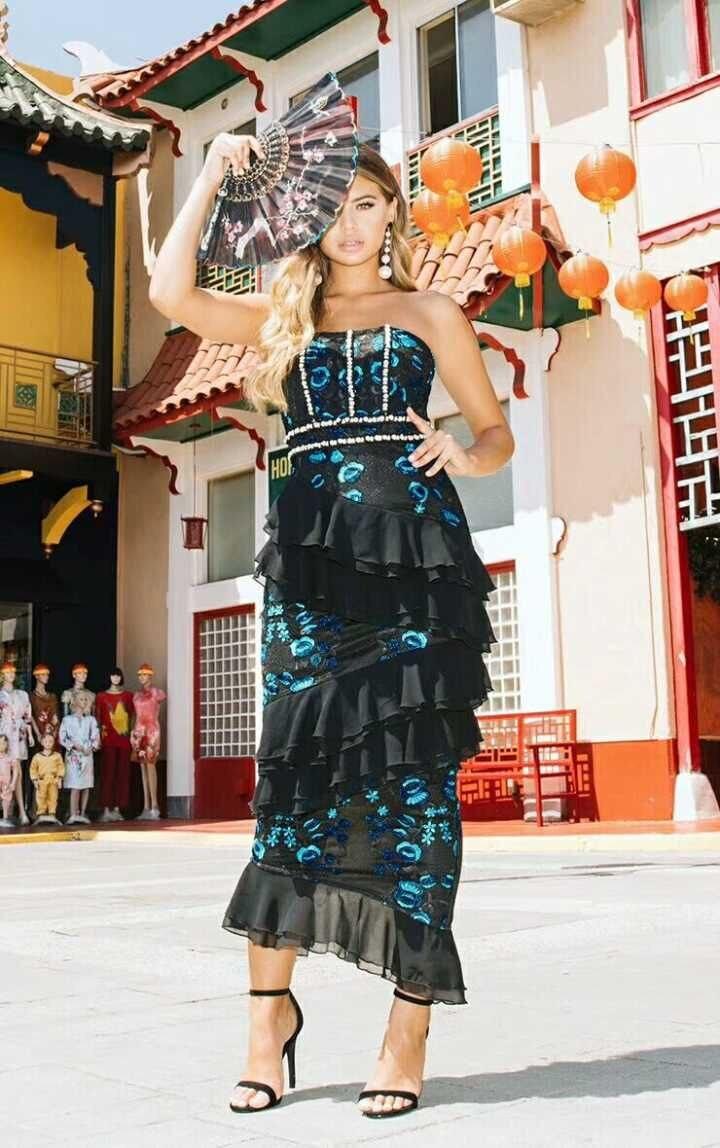 Qualité Bretelles Manches Robes 2019 Mini Bandage Élégant Encolure Moulante Bleu Sans Robe Sexy Haute Femmes Rufflus Pk0OX8nw