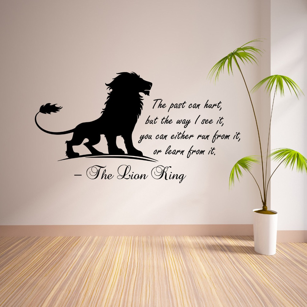 Lion Inspirational Quote Wall Sticker Vinyl Mural Art Wall Decal Home Decor Decoration