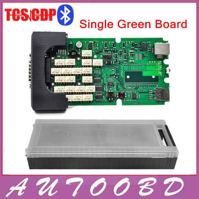 DHL free 2014.R2 TCS scanner single PCB board A+++qualtiy tcs pro pro plus plastic box &install video LED and flight function