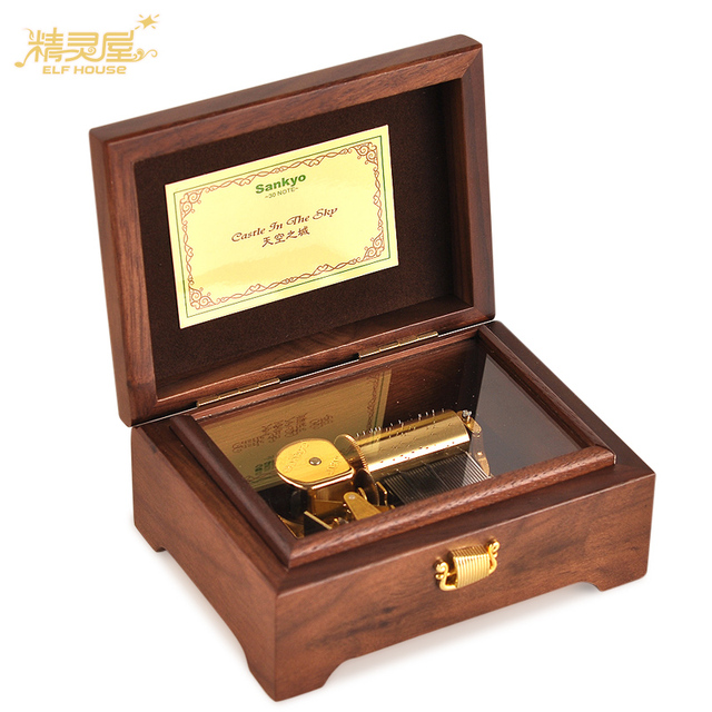 Teachers Day Gift Walnut Wood 30 Tone Music Box To Send His Girlfriend