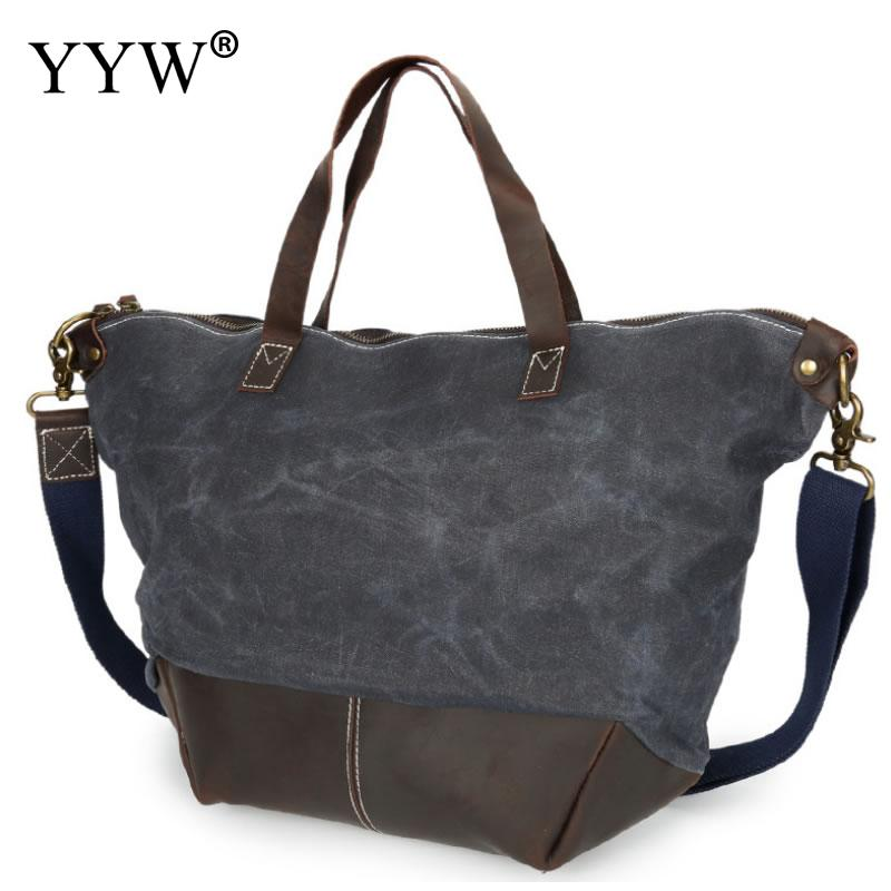 Vintage Unisex Handbags Green Tote Bag for Men Waterproof Canvas and PU Leather Red Women Shell Bags Male Crossbody Bag japanese pouch small hand carry green canvas heat preservation lunch box bag for men and women shopping mama bag