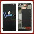 Para nokia lumia 730 735 display lcd + touch screen digitador assembléia com frame preto + ferramentas frete grátis