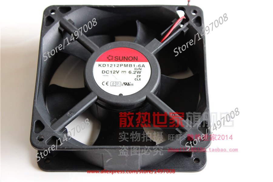 Free Shipping For SUNON KD1212PMB1-6A GN  DC 12V 6.2W 2-wire 60mm 120x120x38mm  Server Square fan free shipping for sunon kd1212pmb1 6a dc 12v 6 8w 3 wire 3 pin connector 110mm 120x120x38mm server square fan