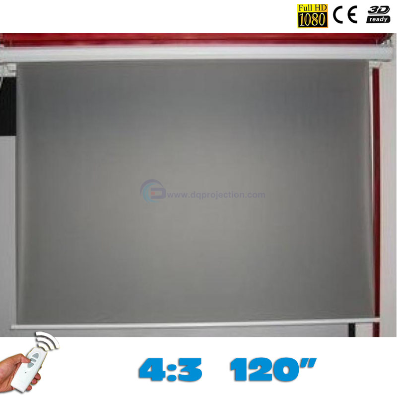 New Rear Electric Projection Screen 120 inchese 4:3 Motorized Projector Screens pantalla proyeccion for LED LCD HD Projector 4 3 electric projector screen pantalla proyeccion for led lcd hd movie motorized projection screen 72 84 100 inches available