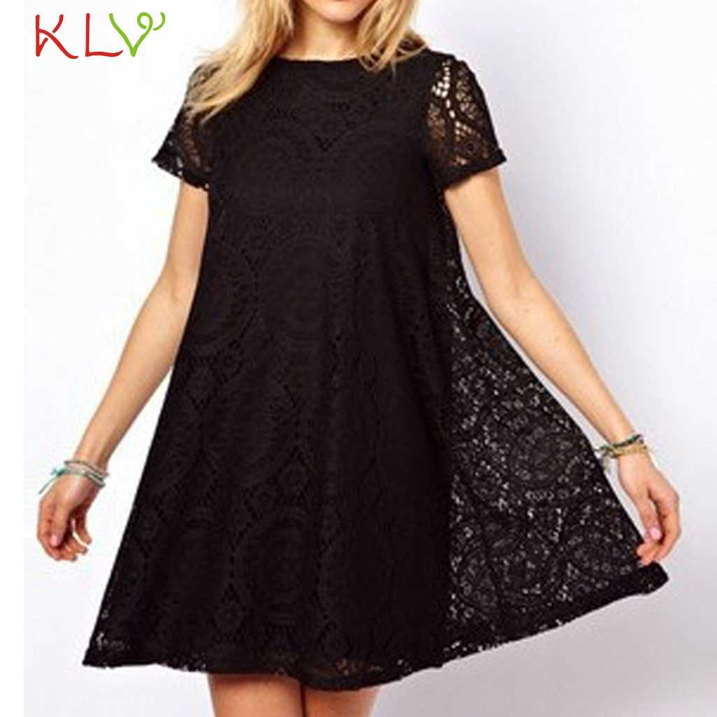 Dress Women Summer Plus size Elegant Lace Casual Short Sleeve Party Night Dress Robe Femme Zomerjurk Dames 2019 Vestidos 19Apr9