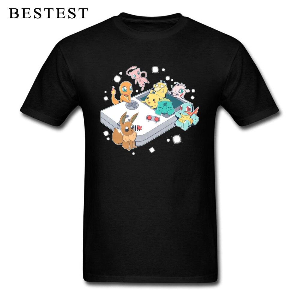 Trainer Men T-Shirt Pocket Monster Pokemon Tshirt Pokeboy Europe Old School Game Tees Ostern Day 100% Cotton T Shirt Wholesale