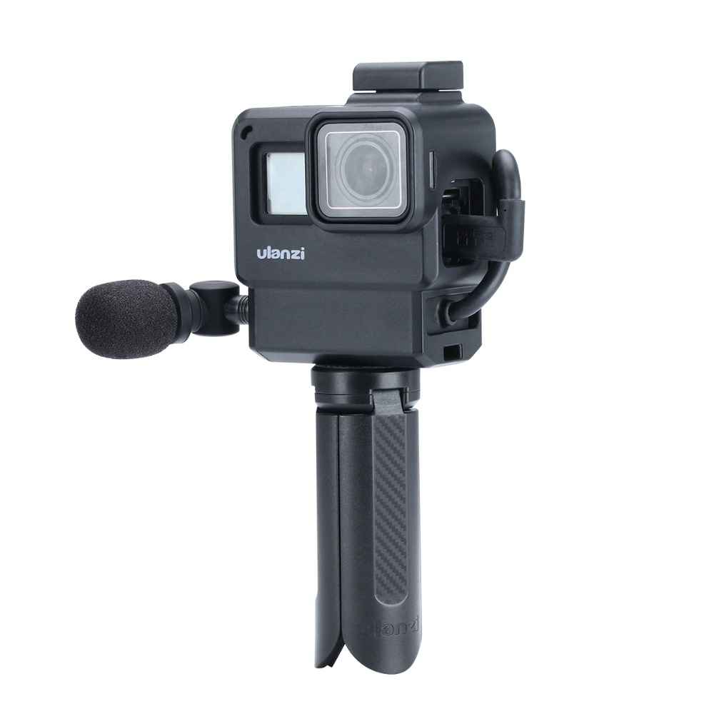 BOYA Saramonic SR-XM1 Mini Condenser Mic With Gopro Cage Tripod For Interview Gopro Hero 7 6 5 Vlog Sport Camera Accessories