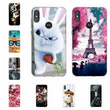 For Motorola One Power P30 Note Case Soft Silicone Cover Rabbit Patterned Shell Bag