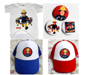 NEW FASHION fireman sam boy ONE SET clothing competitive price Tshirt Badge sun hat 3 PC SET FREE SHIPPING