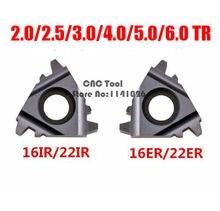 10 stücke 16ER 16IR 22ER 22IR 1,5/2,0/2,5/3,0/4/5/6/ 4,0/5,0/6.0TR Trapez hartmetall Gewinde einsätze für Gewinde Cutter Drehmaschine Werkzeug
