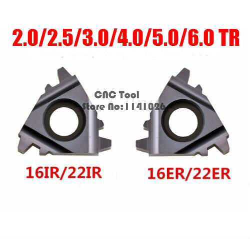 10PCS 16ER 16IR 22ER 22IR 1.5/2.0/2.5/3.0/4/5/6/4.0/5.0/6.0TR Trapezoidal Carbide Thread Inserts For Threaded Cutter Lathe Tool